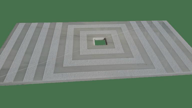 Plato de ducha modelo TIERRA en mármol blanco macael