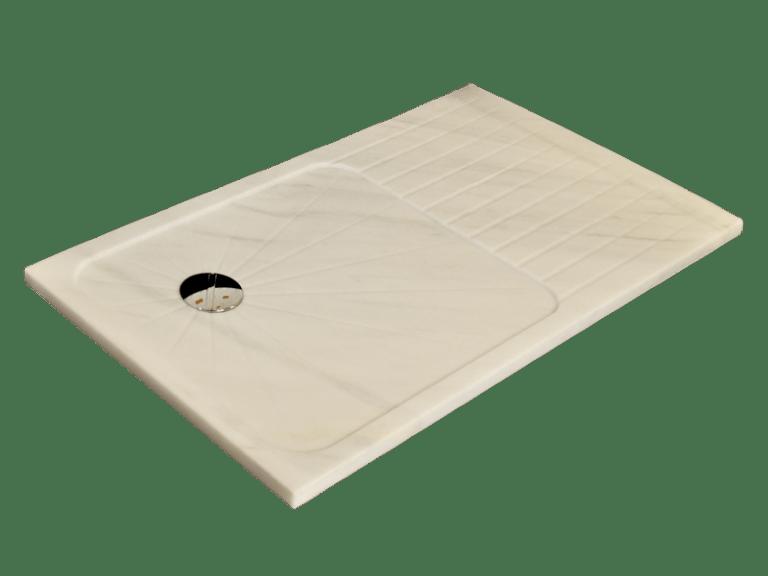 Plato de Ducha modelo JUPITER en mármol blanco macael