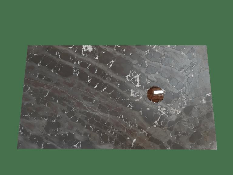 Plato de ducha modelo VENUS de mármol gris cehegin