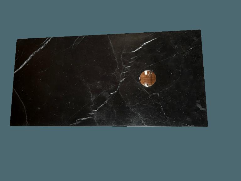 Plato de ducha modelo VENUS de mármol negro marquina