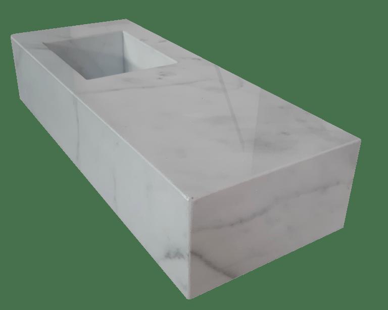 Encimera de Mármol modelo EN150 en color blanco macael