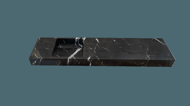 Lavabo de mármol modelo AM130 en color negro marquina 2
