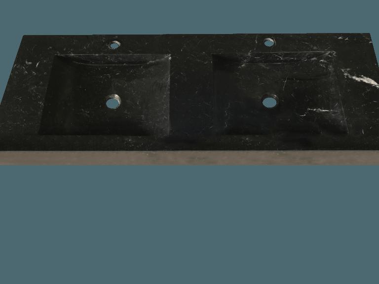 Lavabo de mármol modelo AM300 en color negro marquina