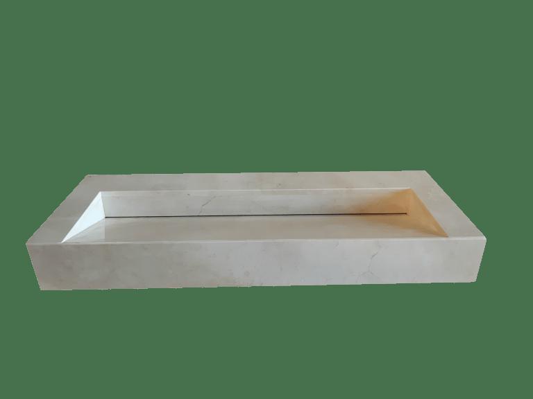 Lavabo de mármol modelo AM120 en color crema marfil 2