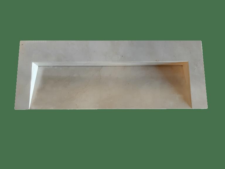 Lavabo de mármol modelo AM120 en color crema marfil 3