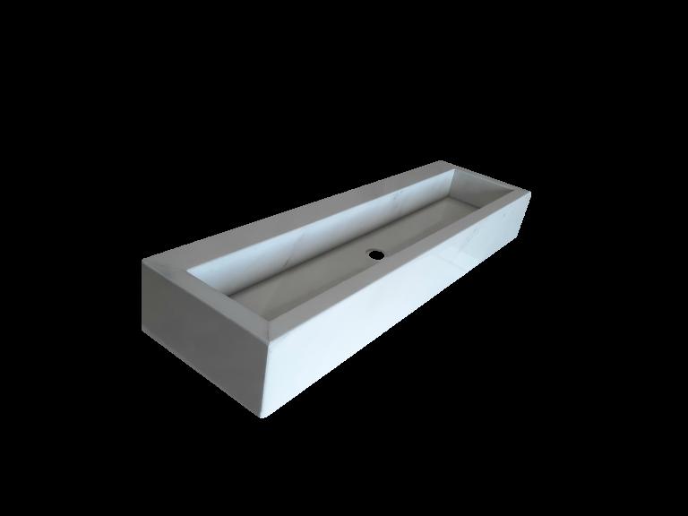 Lavabo de Mármol modelo AM145 en color crema márfil 1