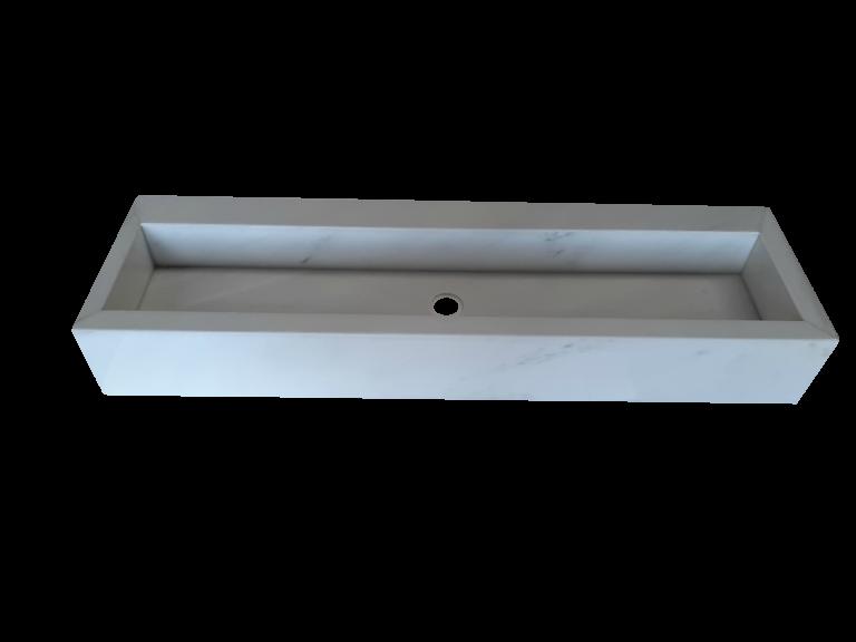 Lavabo de Mármol modelo AM145 en color crema marfil 2