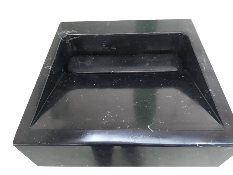 Lavabo de mármol modelo AM25 color negro marquina 2