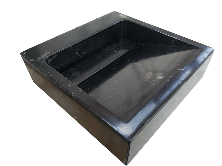 Lavabo de mármol modelo AM25 color negro marquina 1
